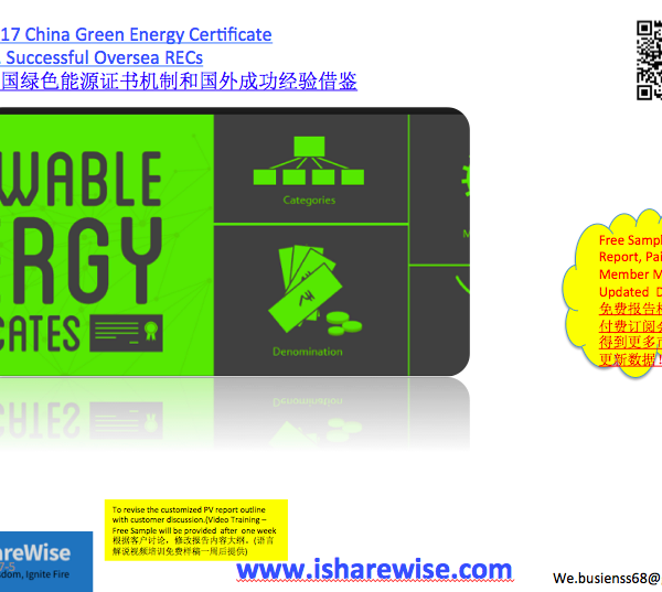 2017 China Green Energy Certificate vs  Successful Oversea RECs