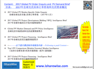 Content |2017 Global PV Order Enquiry and PV Demand Brief | Consulting eShop Financing |光伏云享慧